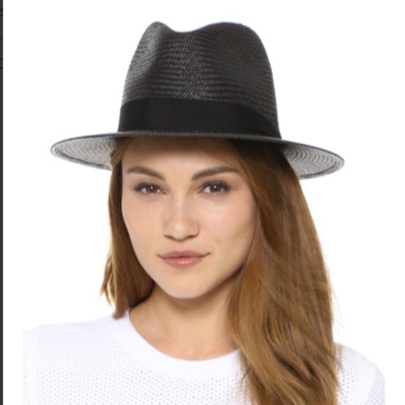 Rag & Bone Women's Navy Panama Hat NWT